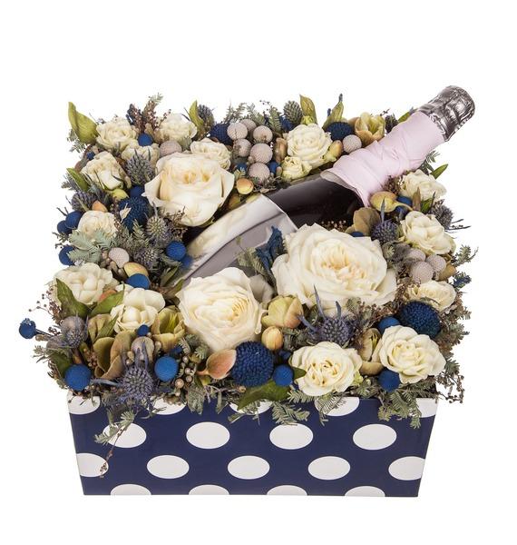 Подарочная коробка Хорошее настроение (Игристое вино в подарок) – фото № 5