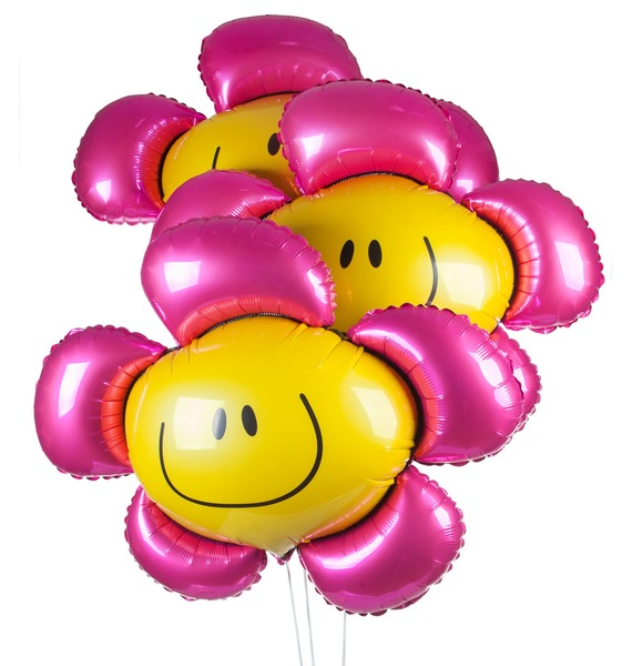 Букет шаров Солнечная Улыбка (3 или 7 шаров)