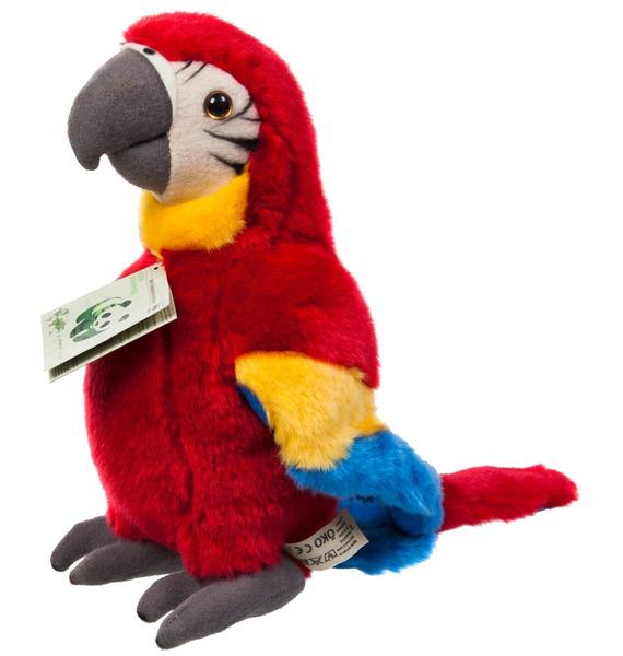 Мягкая игрушка Красный попугай (18 см) флексика пазл для малышей попугай цвет основы красный