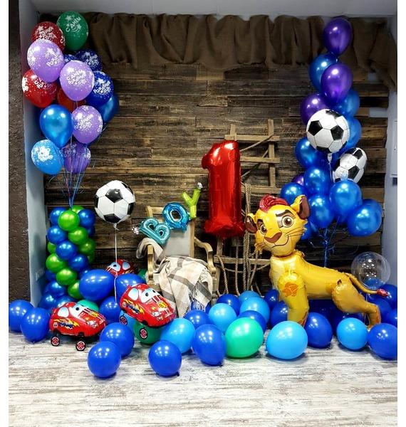 Оформление шарами Для принца! – фото № 1