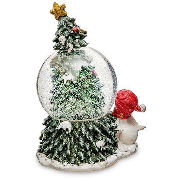 Музыкальный шар с подсветкой и снегом Снеговичок – фото № 2