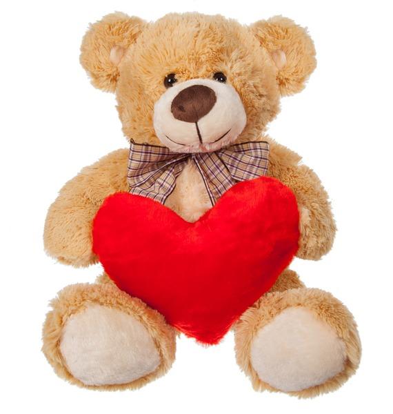 Мягкая игрушка Медведь с сердцем (55 см) мягкая игрушка медведь артур 80 см