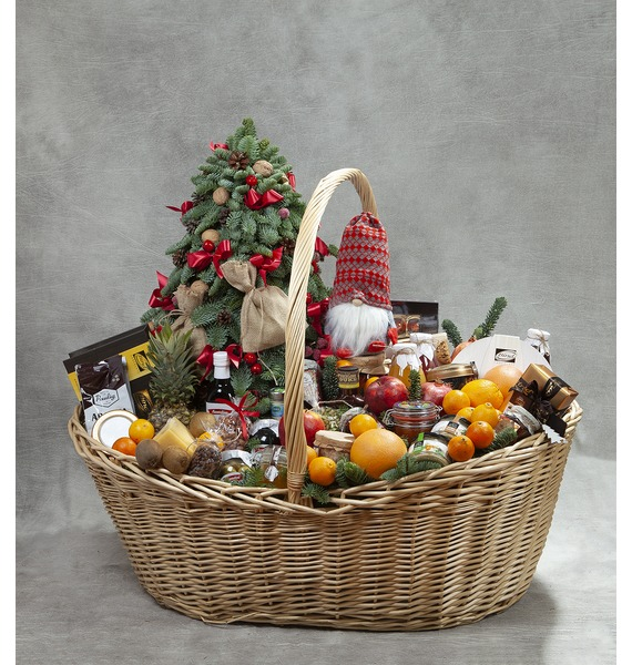 Подарочная корзина Новогодний пир ed 119 фигурка муравьи с яблоком пир пир пир