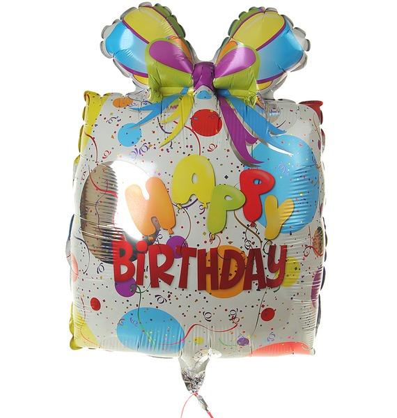 Воздушный шар Подарок на день рождения (66см) artiart подарок подарок попугай птичий нож складной нож фруктовый нож синий день рождения день святого валентина подарок творческий подарок