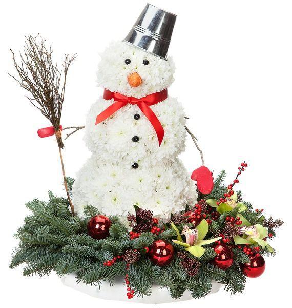 Композиция Веселый Снеговик веселый сапожок