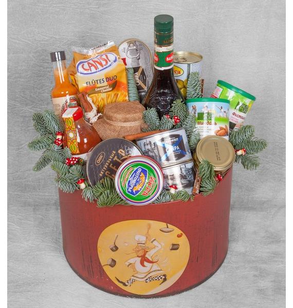 Подарочная коробка Новогодняя суета (Ликёр в подарок) – фото № 1