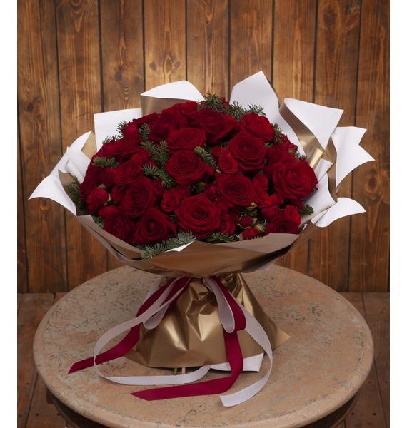 Фото - Букет-дуэт роз Мелодия сердца (15,25,35,51,75 или 101) букет дуэт анданте 25 51 75 или 101