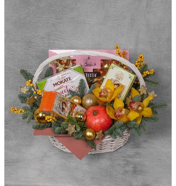 Фото - Подарочная корзина Новогоднее угощение подарочная корзина осеннее танго