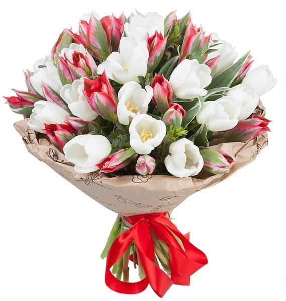 Букет из 51 тюльпана букет зачарованный букет