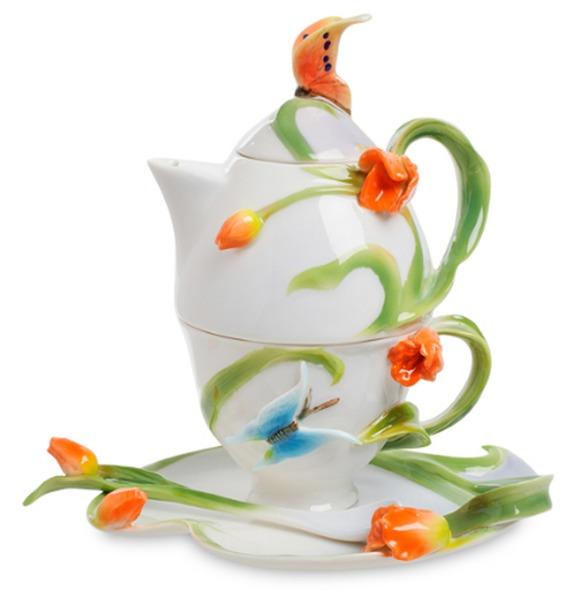Чайный набор Тюльпаны (Pavone) cms 15 84фигурка котенок pavone