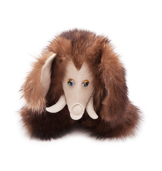 Игрушка из натурального меха Мамонтёнок шуба из меха енота