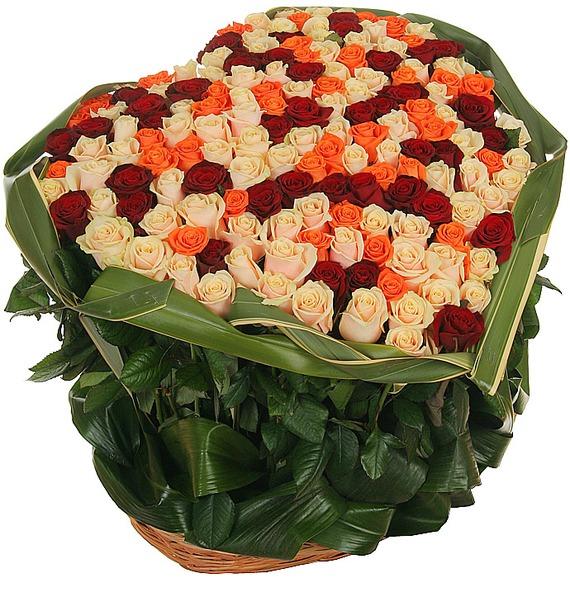 Композиция из роз В доказательство любви... elm 02 композиция из роз и орхидей