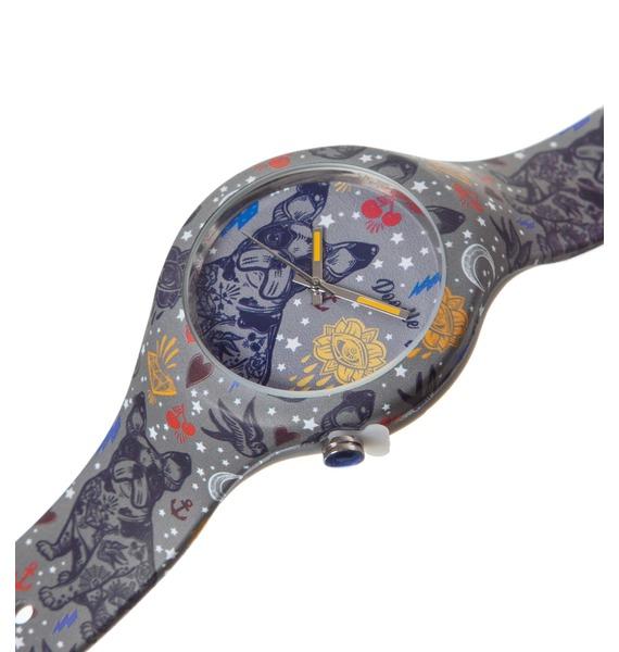 Часы Doodle Французский бульдог – фото № 2