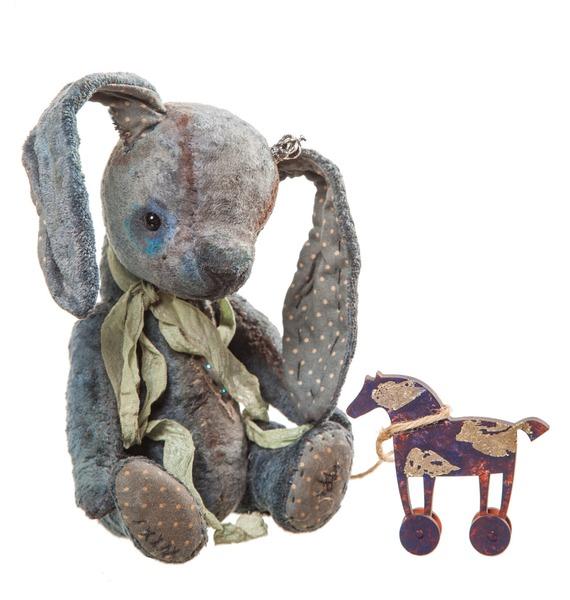 Авторская игрушка ручной работы Кролик-Тедди Анри игрушка