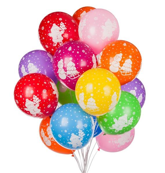 Букет шаров Новогодние символы (15 или 31 шар) букет из гортензии 31 или 61