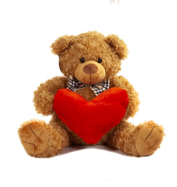 Мягкая игрушка Медведь с бантом и сердцем (60 см)