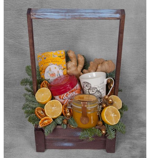 Подарочное кашпо Зимнее чаепитие