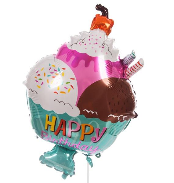 Воздушный шар Мороженое с вишенкой (71 см)