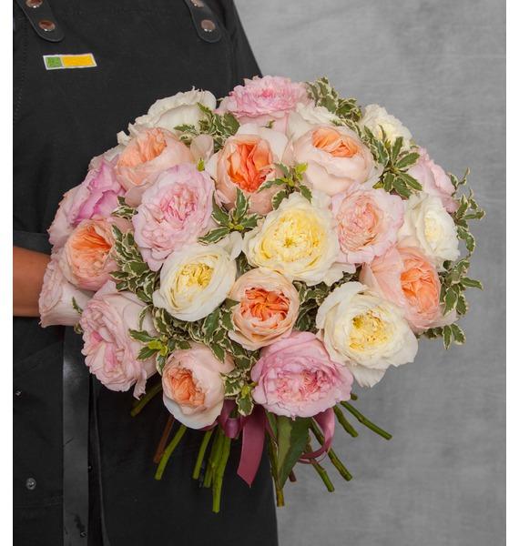 """все цены на Букет из английской розы """"David Austin"""" (21, 35 или 51) онлайн"""