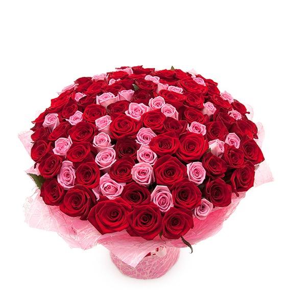 Букет из 101 розы Импровизация – фото № 1