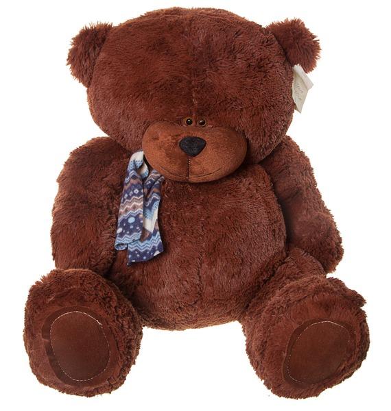 Мягкая игрушка Медведь Тёма (80 см) мягкая игрушка нижегородская игрушка зоопарк с бантиком медведь 40 см