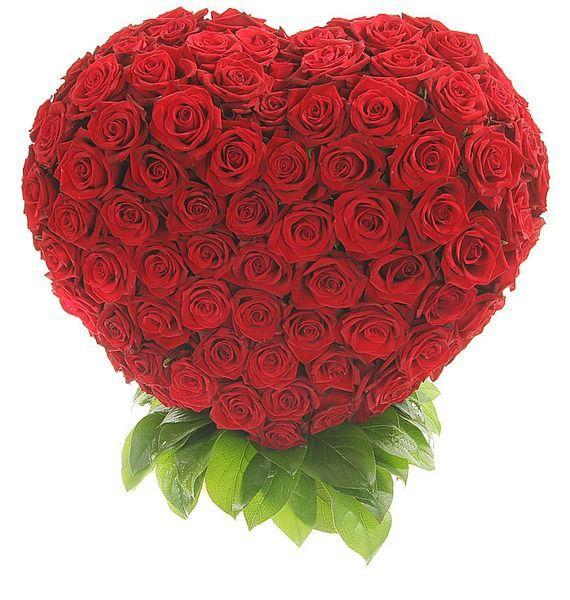 Композиция из 201 розы Мишень Купидона – фото № 1