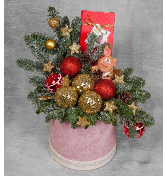 Подарочная коробка Свинка в облаках коробка подарочная совы на белом 19 12 5 8см картон kairui 13 kairui hz 907m