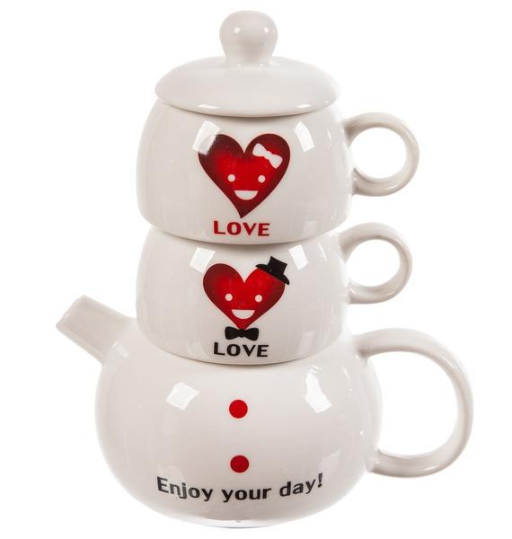 Набор из двух кружек и чайника Хорошего дня fst lt 80 80x80x80cm