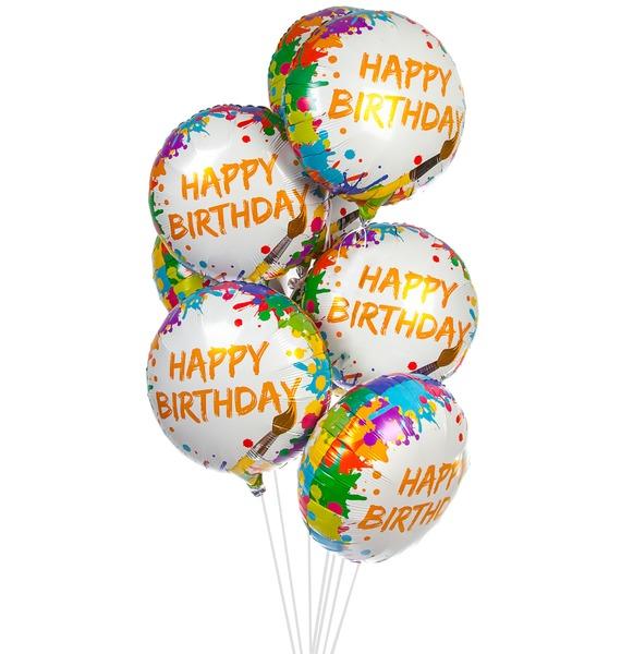 Букет шаров Краски и кисти (9 или 18 шаров) букет шаров вечеринка 9 или 18 шаров