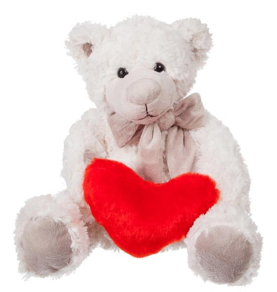 Мягкая игрушка Мишка Сэмюэл с сердцем (28 см) gund мягкая игрушка flynn small 28 см