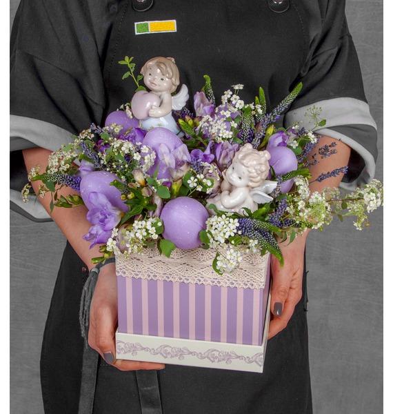 Подарочная коробка Ангелы коробка подарочная бант 20х10х5 5 см