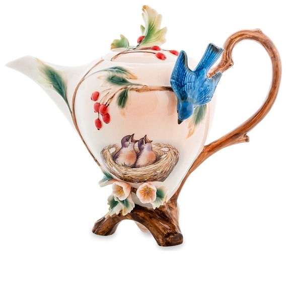 """Заварочный чайник """"Голубые птицы"""" (Pavone)"""