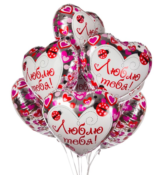 Букет шаров Любовь моя! (7 или 15 шаров) букет шаров сладкий пончик 5 или 9 шаров