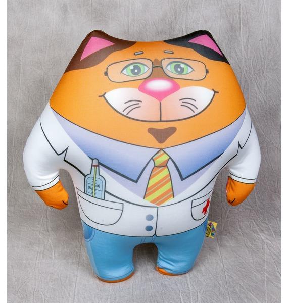 Антистрессовая игрушка-подушка Кот Доктор подушка игрушка italbaby подушка игрушка черепаха