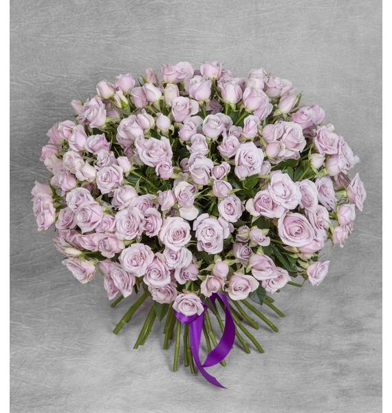 Букет кустовых роз Silver Shadow (25, 51 или 75) – фото № 1