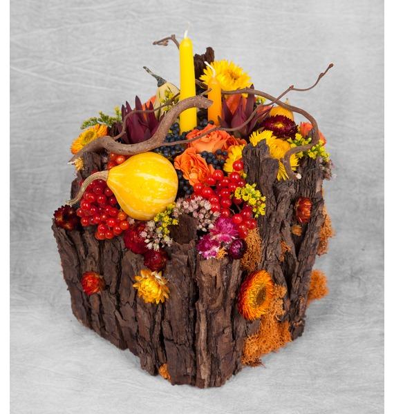 Подарочное кашпо Теплая осень – фото № 1