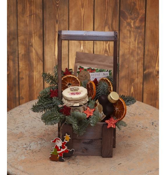 """Подарочное кашпо """"Подарок от Деда Мороза"""""""