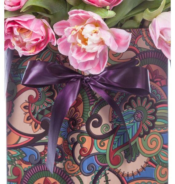 Пионовидные тюльпаны Foxtrot в вазе – фото № 5