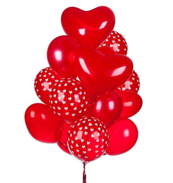 Букет шаров Чувства (15 или 31 шар) – фото № 1