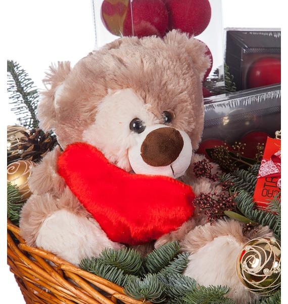 Подарочная корзина Зимняя Love Story (Игристое вино в подарок) – фото № 3