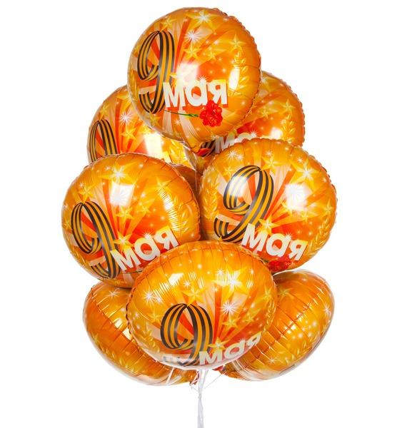 Фото - Букет шаров 9 Мая (9 или 18 шаров) букет шаров красные сердца 9 или 18 шаров