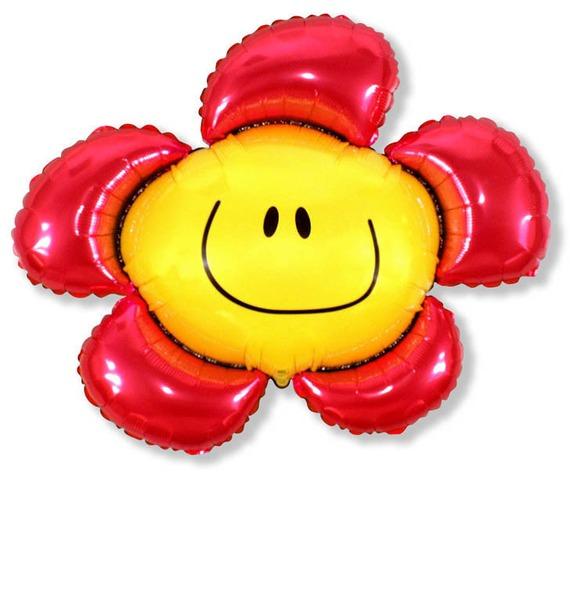 """Воздушный шар """"Цветочек-смайл"""" (104 см) все цены"""
