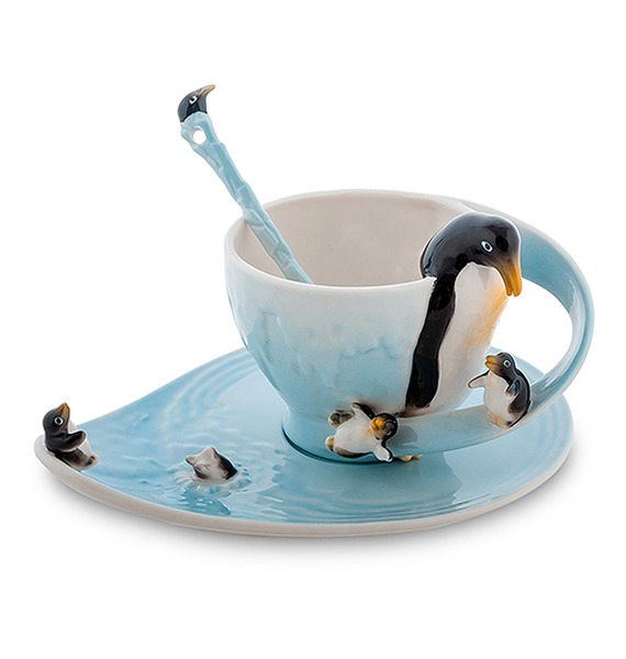 Чайная пара Пингвины (Pavone) gt