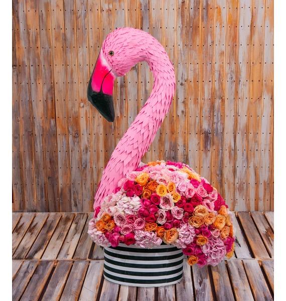 """Композиция """"Экзотический фламинго"""" (высота 1,2 метра)"""