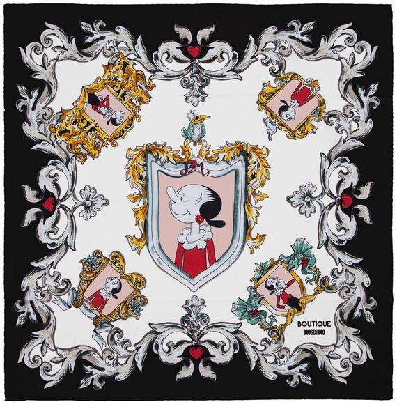 Шелковый платок MOSCHINO Classic (Италия, 50х50 см) – фото № 3
