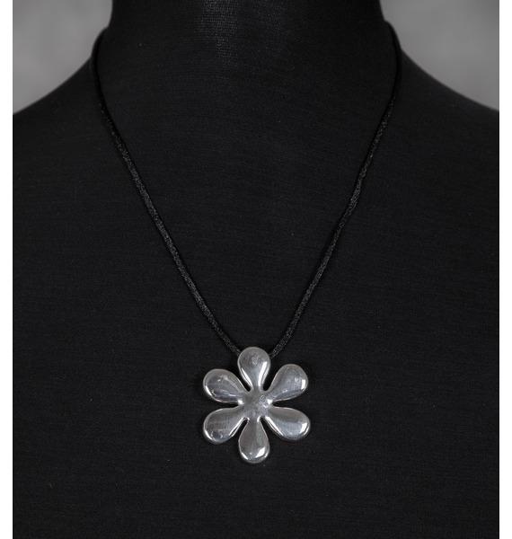 Серебряный кулон Цветок кулон загадочный цветок lotus