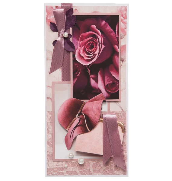 Открытка ручной работы Роза конверт открытка студия тетя роза бабочки ораз 0029