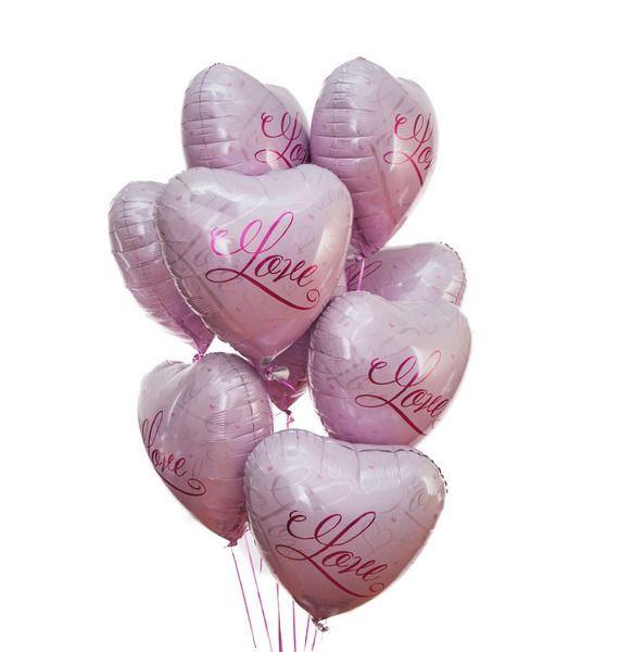 Букет шаров Романтичная любовь (9 или 18 шаров) – фото № 1