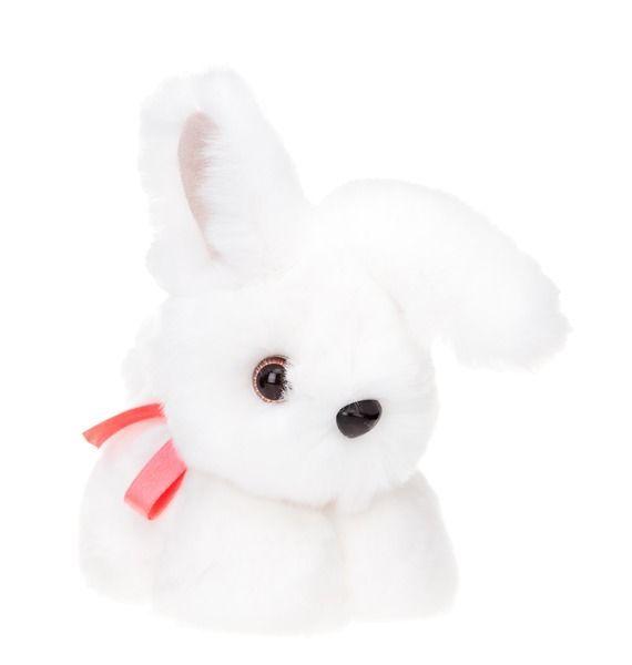 Игрушка из натурального меха «Кролик беленький»