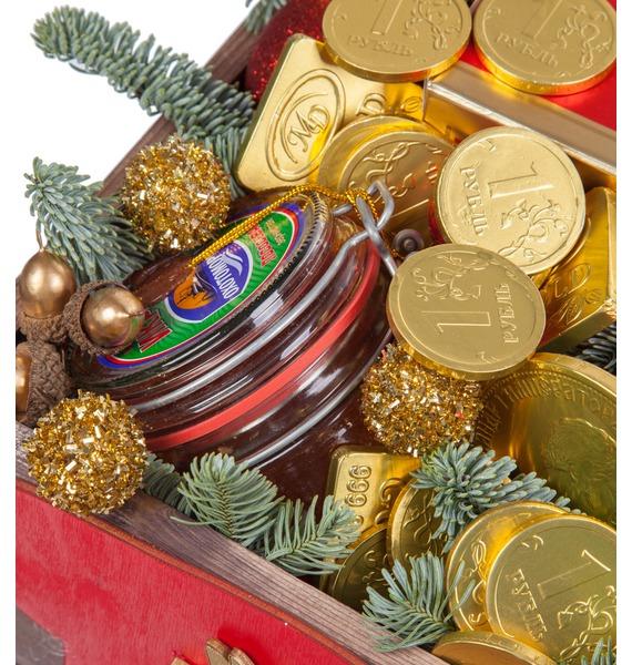 Подарочное кашпо Золотой вкус (Коньяк в подарок) – фото № 3